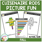 Cuisenaire Rods Picture Fun: Fall ~Digital Download~